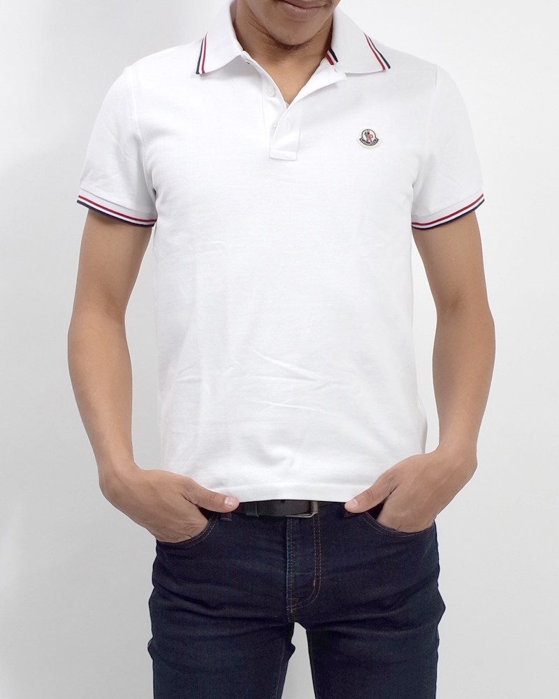POLOSHIRT ポロシャツ ホワイト 在庫商品