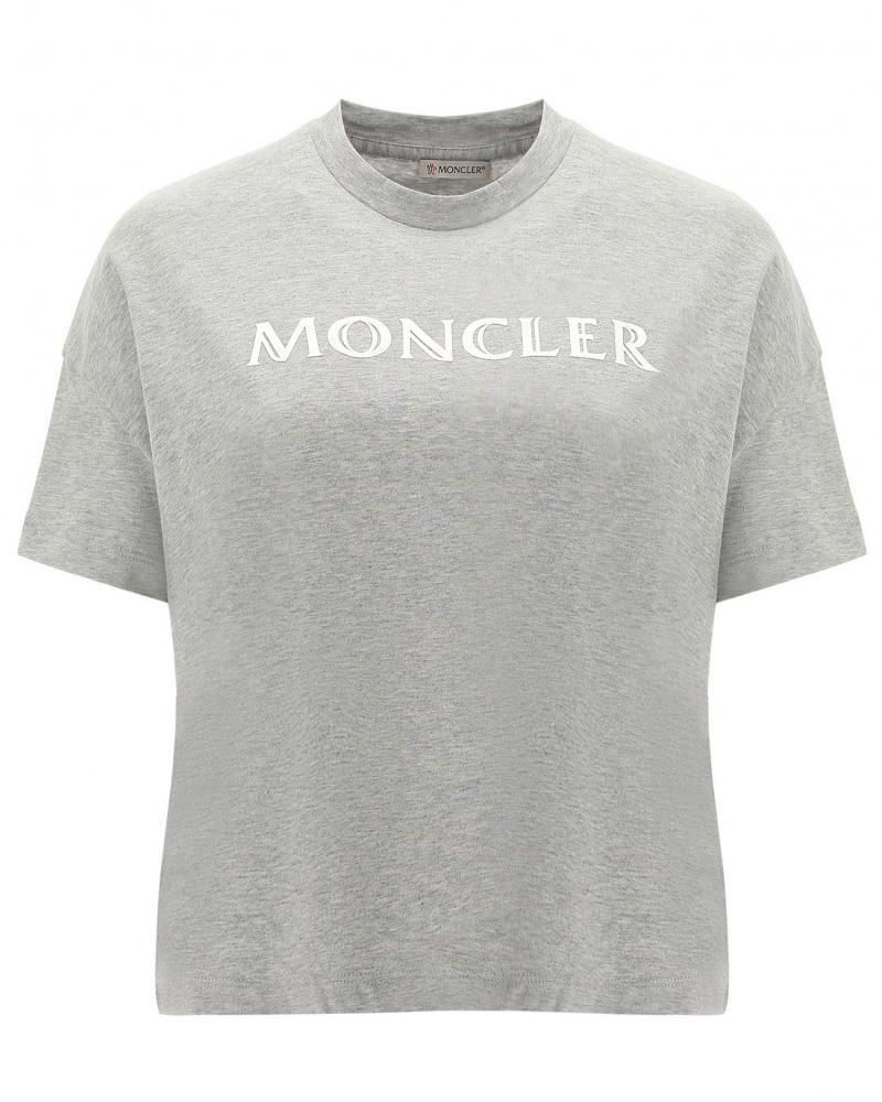 MONCLER(モンクレール) T-SHIRT ロゴTシャツ グレー 在庫商品 17画像