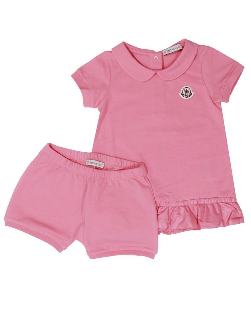 モンクレール キッズ ドレスセットアップ 在庫商品 ピンク画像