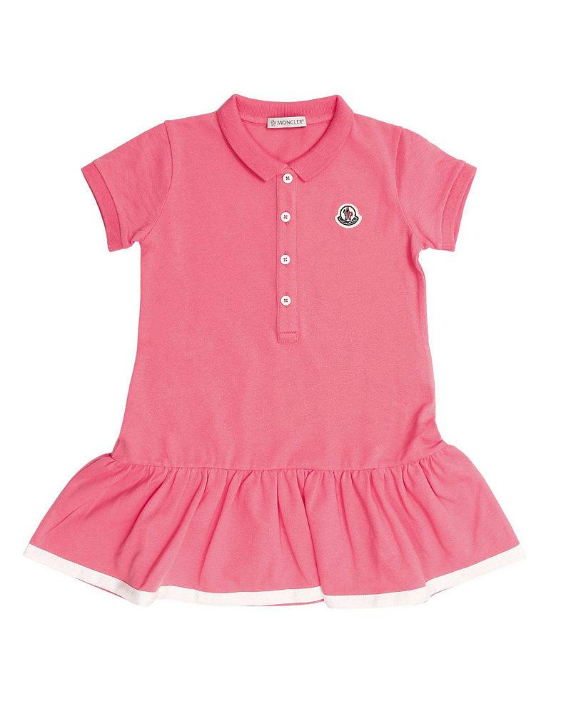 キッズ ポロシャツワンピース ピンク 在庫商品