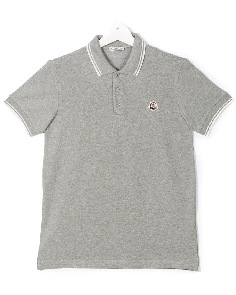 モンクレール キッズ ラインポロシャツ 在庫商品 グレー画像