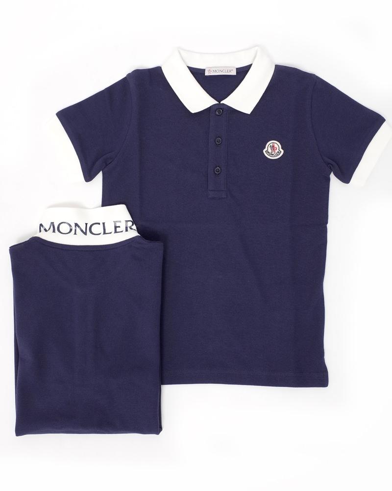モンクレール キッズ ポロシャツ 在庫商品 ネイビー画像