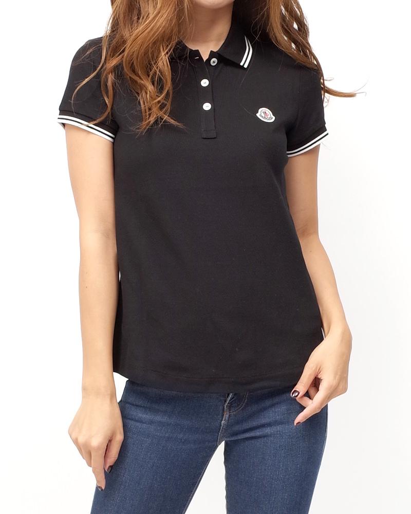 モンクレール POLOSHIRT レディースポロシャツ ブラック 在庫商品画像