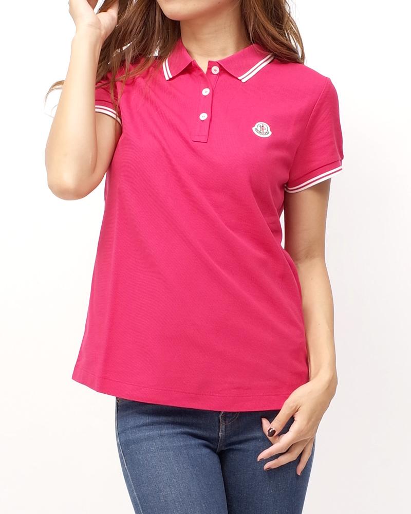 モンクレール POLOSHIRT ポロシャツ ピンク 在庫商品画像
