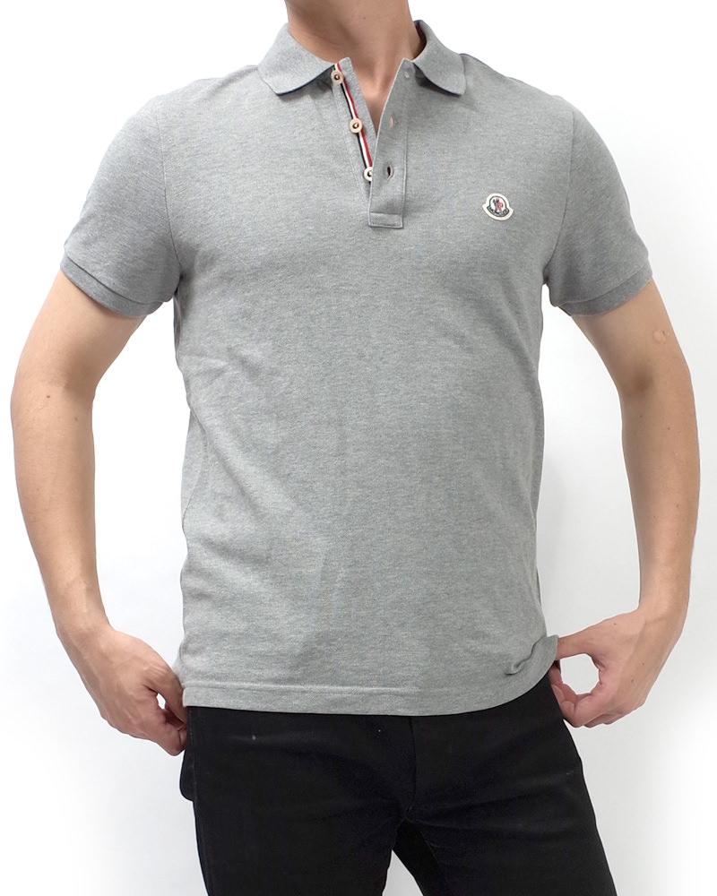 モンクレール POLOSHIRT ポロシャツ グレー 在庫商品 4画像