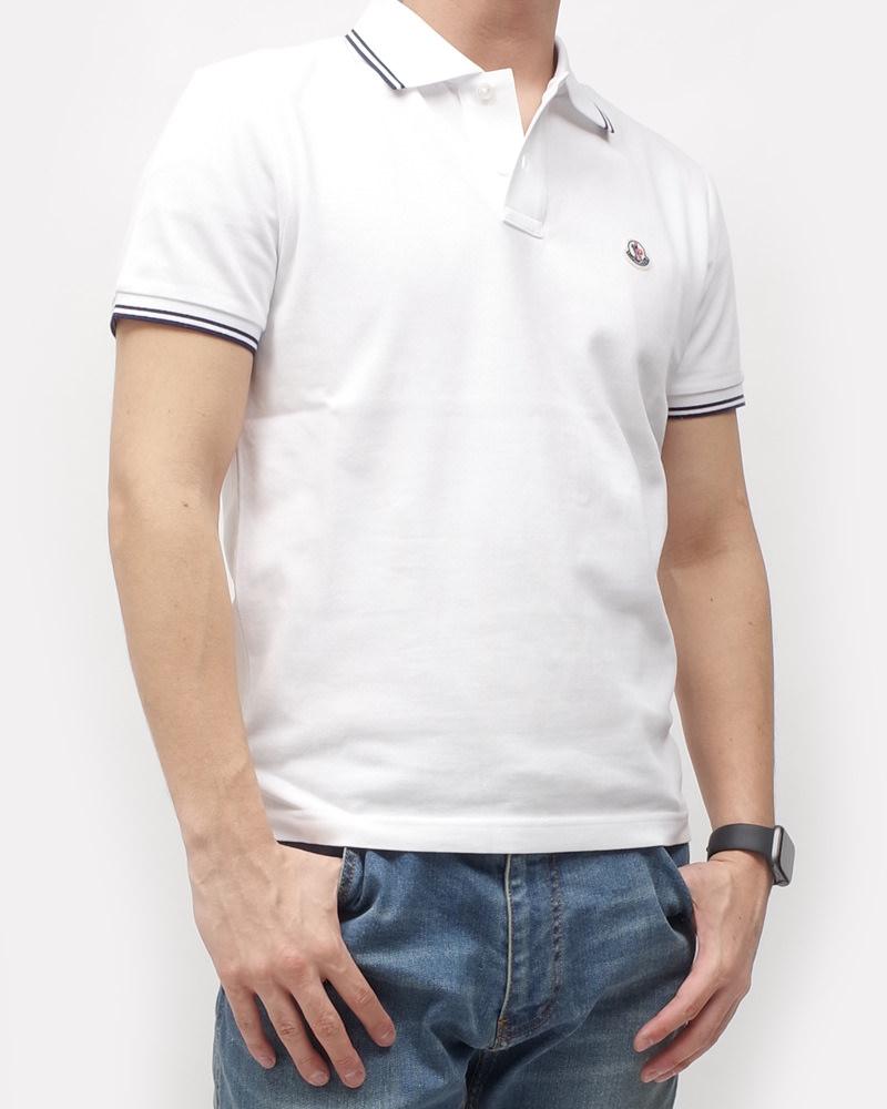 モンクレール POLOSHIRT ポロシャツ ホワイト 在庫商品 5画像