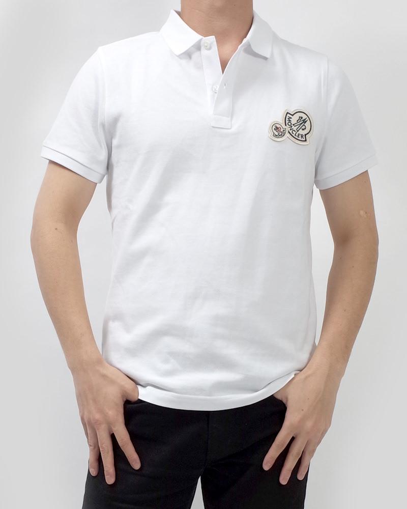 モンクレール POLOSHIRT ポロシャツ ホワイト 在庫商品 6画像