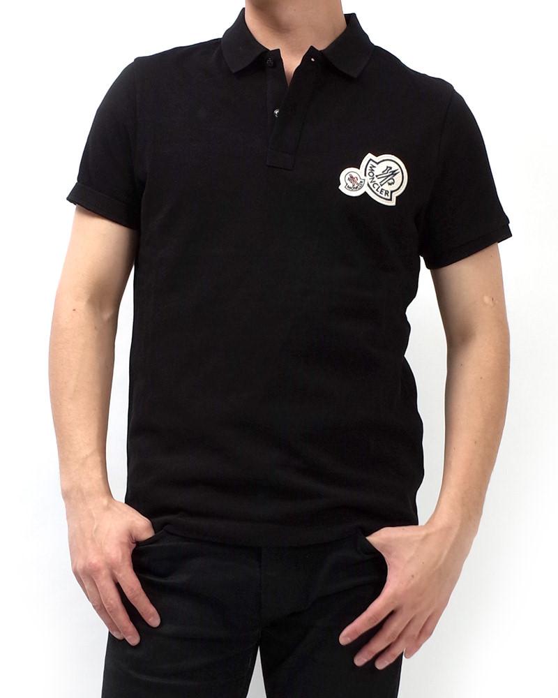 モンクレール POLOSHIRT ポロシャツ ブラック 在庫商品 6画像