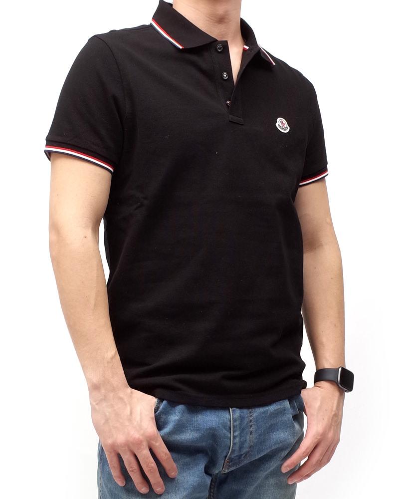 モンクレール POLOSHIRT ポロシャツ ブラック 在庫商品 7画像