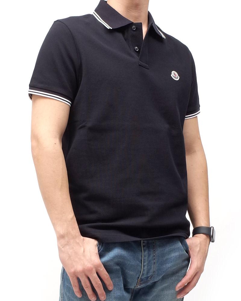 モンクレール POLOSHIRT ポロシャツ ネイビー 在庫商品画像