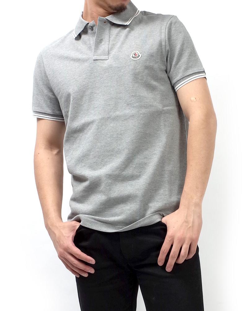 モンクレール POLOSHIRT ポロシャツ グレー 在庫商品画像