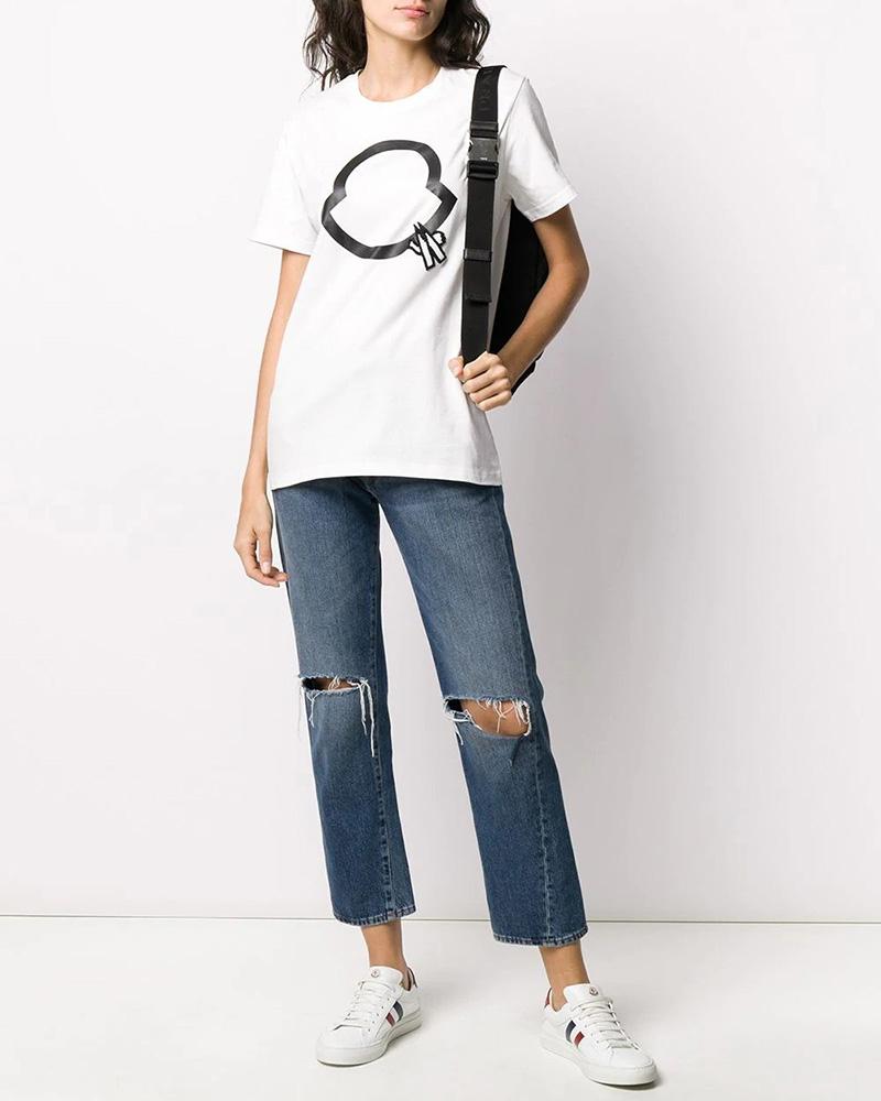 MONCLER(モンクレール) T-SHIRT ロゴTシャツ ホワイト 在庫商品 12画像