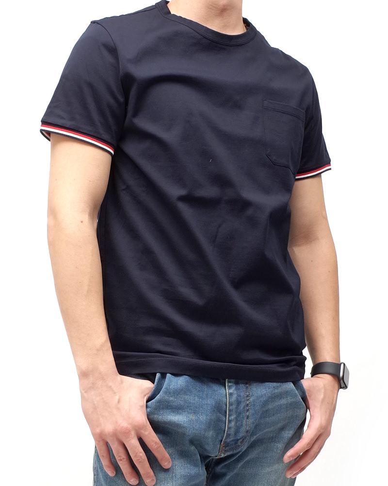 モンクレール T-SHIRT Tシャツ ネイビー 在庫商品 3画像