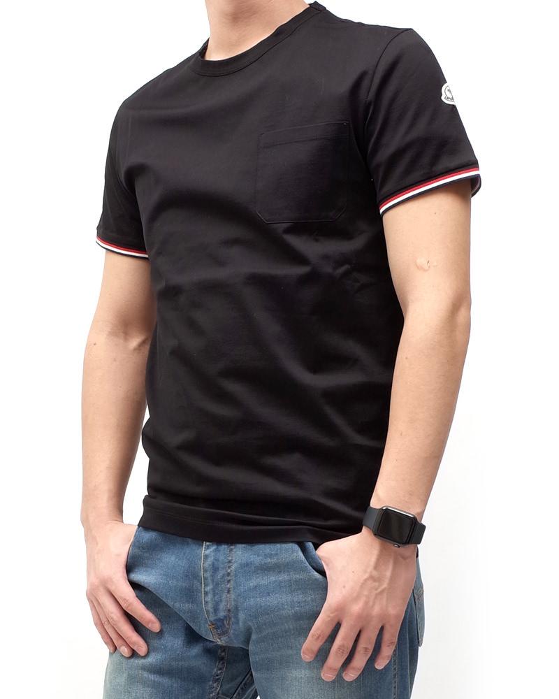 モンクレール T-SHIRT Tシャツ ブラック 在庫商品 3画像