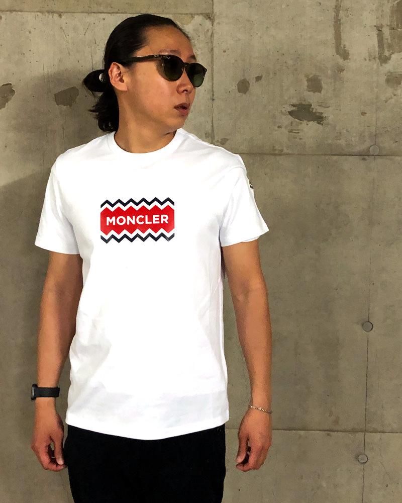 モンクレール T-SHIRT Tシャツ ホワイト 在庫商品 7画像